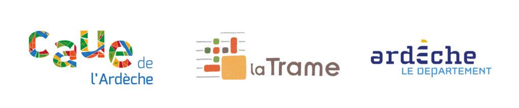Logos CAUE - La Trame - Departement de l'Ardèche